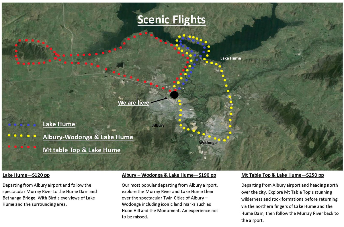 Scenic Flight Routes